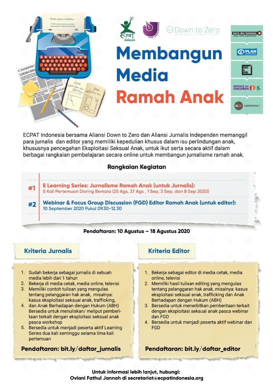 Open Call Membangun Media Ramah Anak Ecpat Indonesia